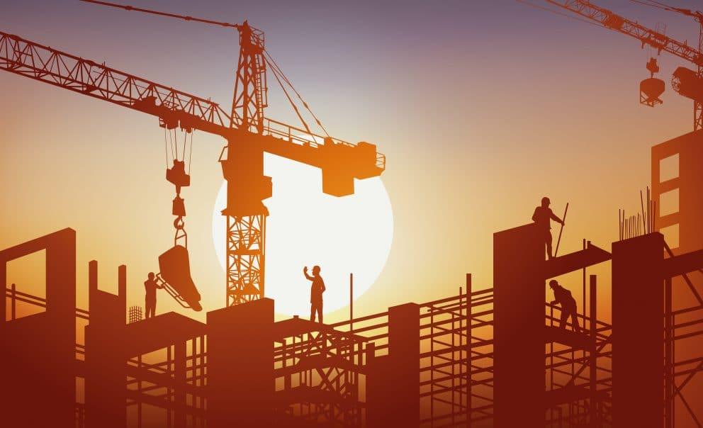 - construction - bâtiment - construire - ouvrier - béton