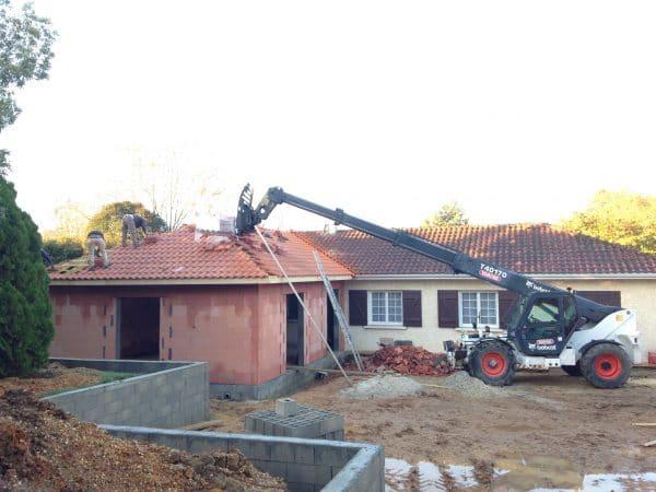 extension villa garage et piscine