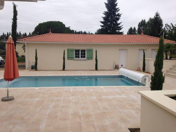 Agrandissement maison / Garage et piscine